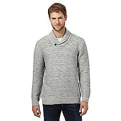 Mantaray - Grey twist shawl necked jumper