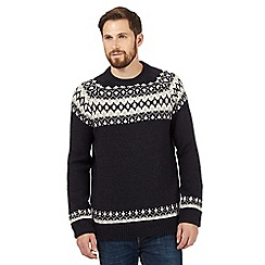 Mantaray - Navy Fair Isle crew neck jumper