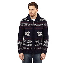 Mantaray - Big and tall navy polar bear sweater