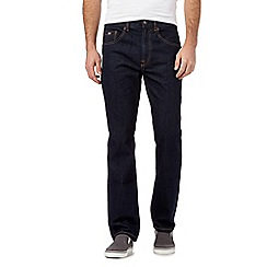 Mantaray - Big and tall dark blue rinse straight jeans