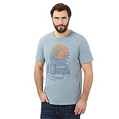 Mantaray - Big and tall light blue sunshine wave t-shirt