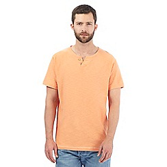 Mantaray - Big and tall orange textured t-shirt