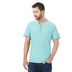 Mantaray - Aqua Y neck top