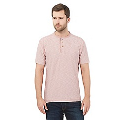 Mantaray - Big and tall light pink textured granddad top