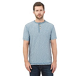 Mantaray - Big and tall light blue textured granddad top