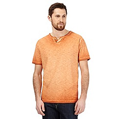 Mantaray - Big and tall orange marl notch t-shirt