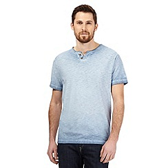 Mantaray - Blue oil wash tee notch t-shirt