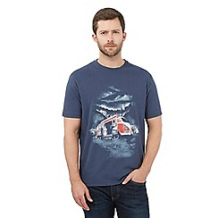Mantaray - Big and tall navy 'campervan' crew neck t-shirt