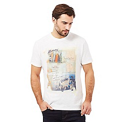 Mantaray - Big and tall white holiday print t-shirt