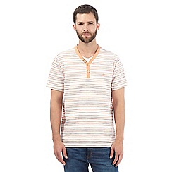 Mantaray - Big and tall orange striped t-shirt