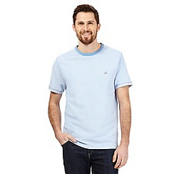 Mantaray - Big and tall light blue textured t-shirt