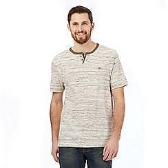 Mantaray - Big and tall brown notch neck t-shirt