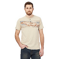 Mantaray - Natural vintage car print t-shirt