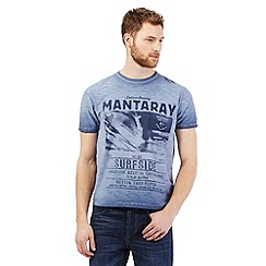 Mantaray - Blue surfer print t-shirt