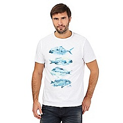 Mantaray - White fish print t-shirt