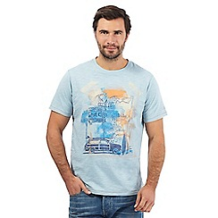 Mantaray - Big and tall light blue 'California' print t-shirt