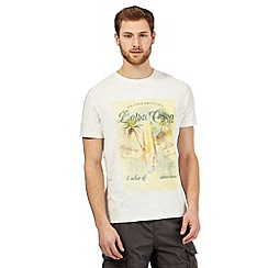 Mantaray - Big and tall off white surfer girl print t-shirt