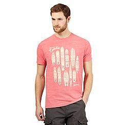 Mantaray - Big and tall pink surfboard print t-shirt