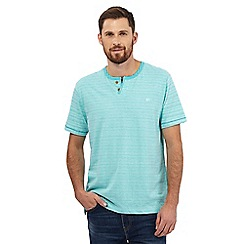 Mantaray - Aqua space dye notch neck t-shirt