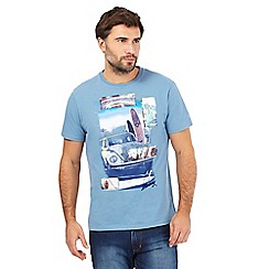 Mantaray - Blue abstract applique car print t-shirt