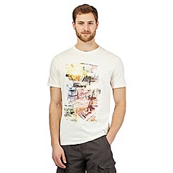 Mantaray - Big and tall off white printed t-shirt
