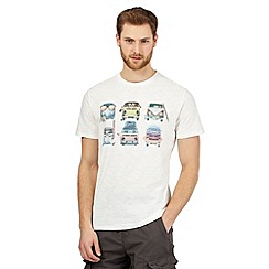 Mantaray - Off white camper van print t-shirt
