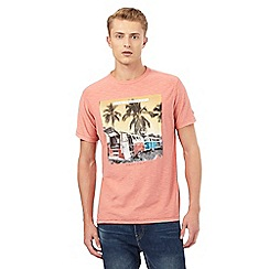 Mantaray - Big and tall pink 'Venice Beach' campervan print t-shirt