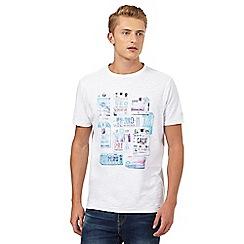 Mantaray - Big and tall white luggage tags print t-shirt