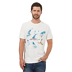 Mantaray - Off white watercolour print t-shirt