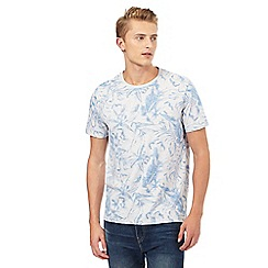 Mantaray - Grey tropical floral print t-shirt