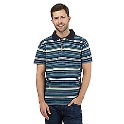 Mantaray - Big and tall dark green striped polo shirt
