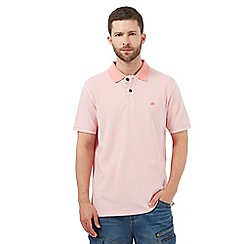 Mantaray - Pink textured polo shirt