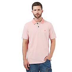 Mantaray - Big and tall pink textured polo shirt