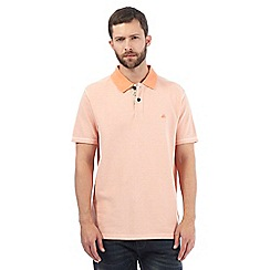 Mantaray - Big and tall orange piqued polo shirt