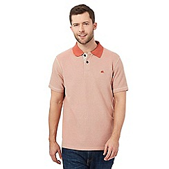 Mantaray - Dark orange textured polo shirt