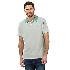 Mantaray - Big and tall green textured polo shirt