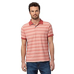 Mantaray - Red feeder striped print polo shirt
