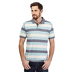 Mantaray - Blue textured stripe print polo shirt