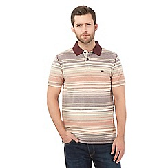 Mantaray - Dark orange striped polo shirt