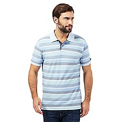 Mantaray - Blue colour block striped polo shirt