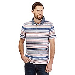 Mantaray - Pink variegated stripe print polo shirt