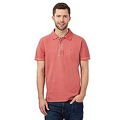 Mantaray - Dark pink pique print polo shirt