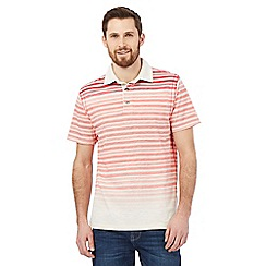 Mantaray - Big and tall pink striped print polo shirt