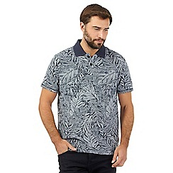 Mantaray - Navy floral print polo shirt