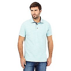 Mantaray - Aqua birdseye textured polo shirt