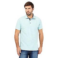 Mantaray - Aqua birdseye textured polo shirt