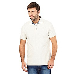 Mantaray - Big and tall off white birdseye textured polo shirt