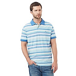 Mantaray - Turquoise striped polo shirt