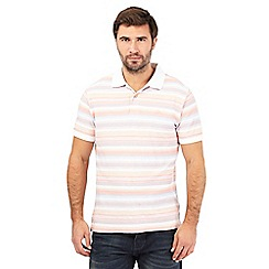Mantaray - Big and tall pink striped polo shirt