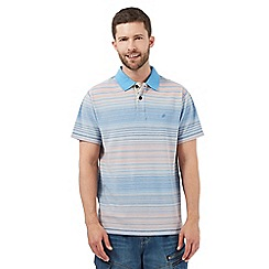 Mantaray - Big and tall blue striped polo shirt